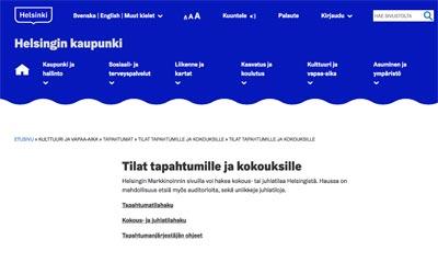 Helsinki tapahtumapaikat