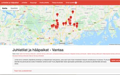 juhlat.net, Vantaa juhlatilat